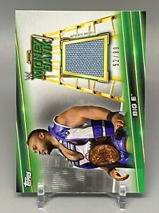 2019 WWE Money In the Bank SP Big E 52/99 Mat Relic