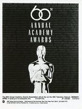 OSCAR STATUE PORTRAIT 60TH ANNUAL ACADEMY AWARDS ORIGINAL 1988 ABC TV PHOTO