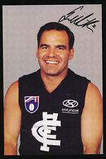 1990s Carlton Football Club Greg Williams signed  photo card r