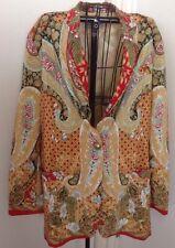 Vintage Howard Wolf Floral Jacket Sz 14 Colorful Dallas Designer Fashion Top