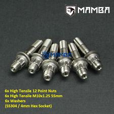 CNC Turbo Flange to Manifold Stud Kit For Nissan RB20DET RB25DET M10x1.25 55mm