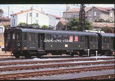 C1545 - Dia slide 35mm original: chemin de fer France, SNCF autorail 4163, 1969