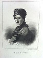 J J ROUSSEAU portrait GRAVURE originale XIXème