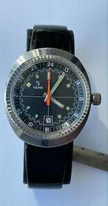 Vintage Yema Meangraf Sport Rally Watch Rare Yema Diver Watch Waterproof