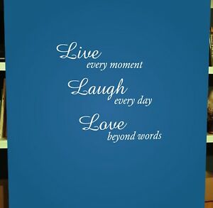 Live Laugh Love Wall Quote Vinyl Text Art Sticker Decal