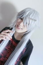 Black Butler / Kuroshitsuji Undertaker 130cm Long Silver white Cosplay Wig