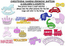 Christening Table Confetti Personalised for Party Birthday Baptism & More