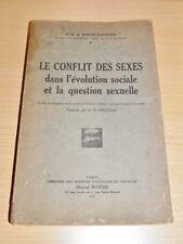 WIETH-KNUDSEN Conflit des sexes Féminisme SOCIOLOGIE PSYCHOLOGIE GENRE 1931