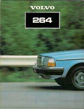 Volvo 264 Saloon 1980-81 UK Market Sales Brochure GL GLE 260-Series