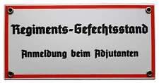 Emailleschild Regimentsgefechtsstand