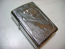 ZIPPO  SERIE WILD WEST  B148 EAGLE OVER MESA  PLACCA  CROMO NEW DISCOUNT
