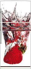 Sticker frigo fraise splatch 70x170cm réf 521