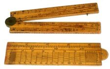 """ANTIQUE Pliant secteur et une règle les deux 4 1/2"""" De Long, instruments de dessin"""