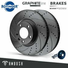 Fits VW Touareg Drilled & Grooved Brake Discs 314mm Rear Fast Road