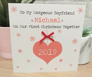 Personalised 1st First Christmas Together Card Boyfriend Girlfriend