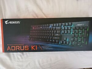 gigabyte aorus k1 keyboard, black, rgb, new,