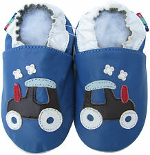 carozoo golf car blue 0-6m S soft sole leather baby shoes