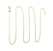 14K Yellow Gold Solid Rope Link Chain Necklace ~ 0.6g