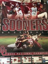 2007 Oklahoma Sooners Baseball Schedule Poster Free Shipping