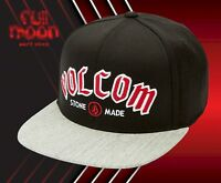 New Volcom Archer Mens Black Red Snapback Cap Hat