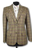 Ladies Tweed Country Blazer Jacket - ITALIAN TAILORED WOOL -UK 10 - SUPERB 984
