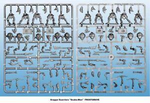 "FROSTGRAVE Grappe Guerriers ""Snake-Men"" Figurines 28mm plastique"