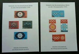 [SJ] Germany Berlin Olympic 1976 Sport Games (souvenir sheet pair) MNH *imperf