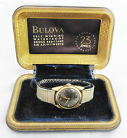 Vintage Mid-Century Bulova Gold Plate 23 Jewel Watch With Original Case