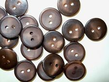 "Vintage Rochester Button Co. Lot of 12 Buttons Brown 15 mm (5/8"")"