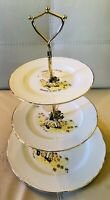 Vtg 1983 Holly Hobbie Cat 3 Tiered Cookie Display Party Serving Tray Plate