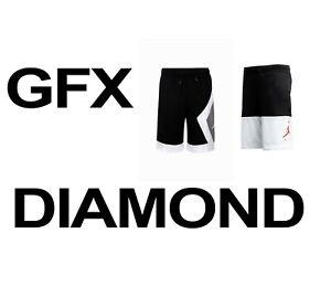 "Youth Air Jordan ""JDB"" Blocked Diamond 956301-023 & ""GFX"" 955049-023 Shorts Boys"