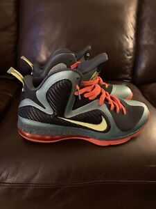 """Nike Lebron 9 """"cannon"""" Sz 14 9.6 Out Of 10"""