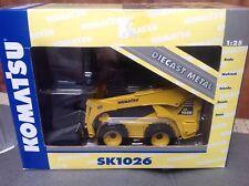 KOMATSU SK 1026 JOAL 40071 Skid Steer Loader with addtional Forks DIECAST 1:25,2