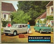 PEUGEOT 404 FAMILY SALOON & STATION WAGON Sales Brochure 1964