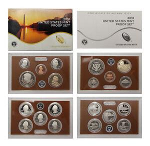 2018 Proof Set CN-Clad Kennedy, Presidential Dollar, ATB quarters OGP 10 coins