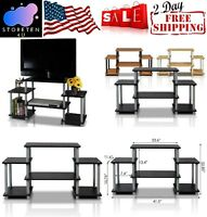 11257BK/GY Television Stands & Entertainment Centers Turn-N-Tube No Tools TV