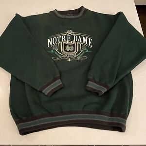 Vintage Notre Dame Fighting Irish Midwest Embroidery Crew Neck Sweater - M