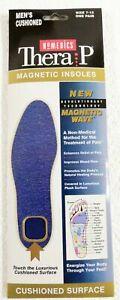 Homedics Mens Massaging TheraP Magnetic Insoles Size 7-12