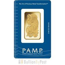 PAMP 1oz Gold Bar in Gift Box