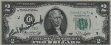 Lew Worsham Autographed $2 Bill - JSA Authenticated