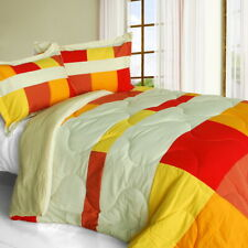 [Charming Bedford] Quilted Patchwork Down Alternative Comforter Set (Twin Size)