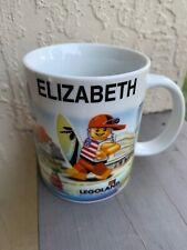 Lego Ceramic Coffee Tea Mug - Elizabeth - Name Legoland Florida