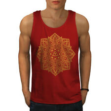 Wellcoda Mandala Arte Para Hombre Camiseta sin mangas, Yoga Yantra activo camisa de deportes