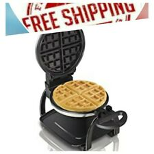 Hamilton Beach Flip Belgian Waffle Maker with Non-Stick Removable Plates, Browni