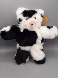 Vermont Teddy Bear Black & White Cow Take Along Teddy 2010 Top Toy Award NWT