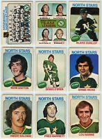 1975-76 OPC Minnesota North Stars 20 Card Team Set VG to EX+ (05-03202020)
