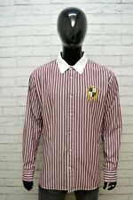 Camicia Righe Uomo TOMMY HILFIGER Custom Taglia 2XL Maglia Manica Lunga Shirt