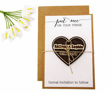 Personalized Cards Engraved Wood Magnets With Envelope Wedding Announcement-MG69