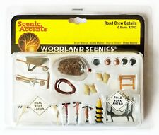 Woodland Scenics A2762 O-Scale Scenic Accents ROAD CREW DETAILS, NEW! Sealed Pkg