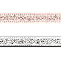 Ranken Borduere Schnoerkel Borte Papier Schwarz Weiß Rot Natur natuerlich modern